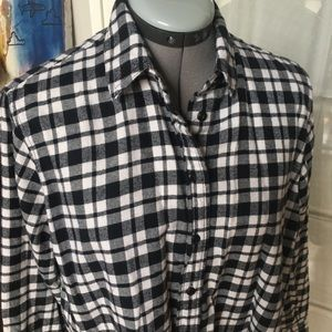 Madewell flannel tunic shirt XS